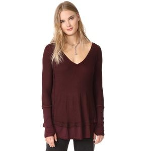 Free People Laguna Thermal Burgundy